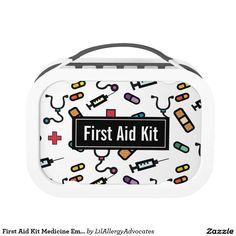 First Aid Kit Medicine Emergency Pattern Lunch Box