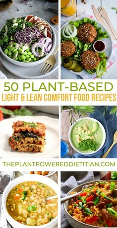 Now is the time to dive into comfort foods with a passion. I just cant get enough of comforting soups stews nourish bowls hearty salads casseroles and healthy treats. Get ready to be inspired with this gorgeous collection of 50 Light & Lean Recipes! Plant Based Eating, Plant Based Diet, Plant Based Recipes, Veggie Recipes, Whole Food Recipes, Diet Recipes, Vegetarian Recipes, Cooking Recipes, Healthy Recipes