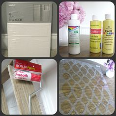 Tutorial on how to stencil curtains without using costly fabric paint...