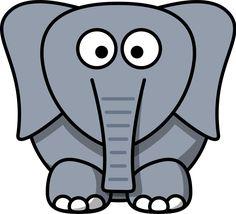 clipartist net clip art lemmling cartoon elephant black white rh pinterest com clip art elephant free printable clipart elephant in the room