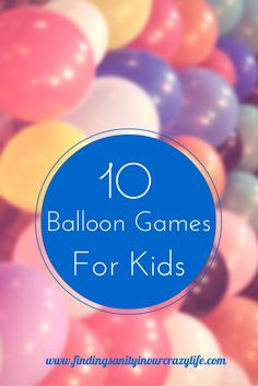 """10 Fun Balloon Games For Kids Summer is here and that means barbecues, picnics and back yard parties and at these events are plenty of kids looking to have fun. Make sure they remember your get together as the party of the summer with these 10 Fun Balloon Games For Kids. Balloon Games For Kids...<a href=""""http://findingsanityinourcrazylife.com/10-fun-balloon-games-for-kids/"""">[ReadMore]</a>"""