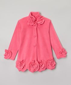Little Miss Fashion Pink Floral Peacoat - Infant, Toddler & Girls | zulily