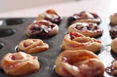 Cresent rolls + Cream cheese + Berries/jam = A party in your mouth! Berry danish minis!