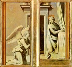 Fra Bartolomeo ~ Annunciation, 1500, oil tempera on wood, Galleria degli Uffizi, Florence