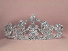 Every bride who dreams of being a princess deserves a tiara on her wedding day. And it's perfect for a Cinderella wedding!