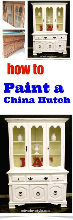 China Hutch Make Over {refreshing And Light