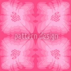 Pinky Florale by Dorothee Schaller available as a vector file on patterndesigns.com Vector Pattern, Pattern Design, Repeating Patterns, Vector File, Surface Design, Fantasy, Flowers, Art, Art Background