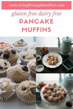These pretty Muffins are gluten free, dairy free and healthy. With less than 15 minutes of prep time you will have a grab-and-go breakfast or a beautiful display at brunch. www.livingfreelyglutenfree.com