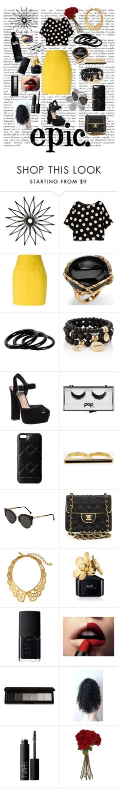 """Polka Doll"" by whitecrystxl ❤ liked on Polyvore featuring MANGO, Dsquared2, Palm Beach Jewelry, Furla, The Limited, Steve Madden, Hudson Jeans, Pop Beauty, Marc by Marc Jacobs and Eddie Borgo"
