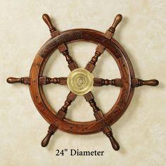 Wooden Ship Wheel Wall Art