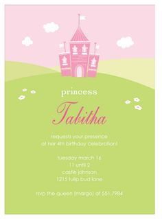 Tabatha's Castle Party Invitation | Paper & Pearl