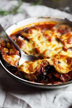 Aubergine, Tomato & Mushroom Bake