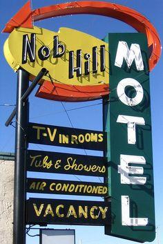 Vintage Motel sign |
