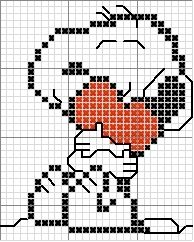 Ponto Cruz da Drayzinha: another Snoopy cross stitch!