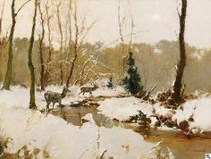 Stepan Fedorovic Kolesnikov - Rotwild im Winterwald