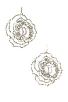 Rosette Swarovski Crystal Earrings