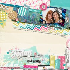 A Stacked Mess: Vol 6 (Storyteller Add-on) by Erin W and Just Jaimee and Storyteller Reed: Digital Scrapbooking Kit Collection by Just Jaimee; Springtime Template by Pink Reptile Designs; Custom Font