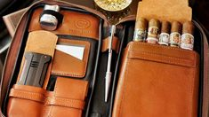 $235 Peter James Leather Aficionado Case Cigar Travel Case, Leather Cigar Case, Like A Sir, Pipes And Cigars, Top Cigars, Cigar Art, Man Page, Premium Cigars, Cigar Cases