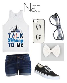 """""""Girls night out"""" by nat-cat-iconic ❤ liked on Polyvore featuring VILA, Vans, Full Tilt, Kate Spade and Disney"""