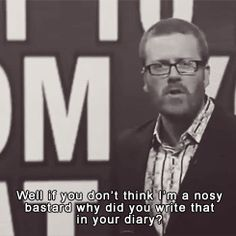 Things You Don't Want To Hear From Your Flatmate | Frankie Boyle | Mock The Week Funny Shit, Funny Stuff, Funny Memes, Hilarious, Jokes, British Humour, British Comedy, Frankie Boyle, Mock The Week