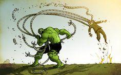 The Hulk vs. Dr. Octopus - Darren Rawlings