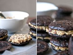 I need to get my sister-in-law to make these for me.    German Chocolate Sandwich Cookies (gluten-free)