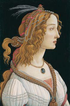 Retrato de Simonetta Vespucci, 1480, Museo Städel, Fráncfort. Sandro Botticelli