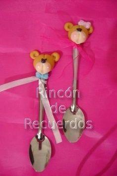 Cucharitas Decoradas Porcelana Fria Souvenirs .