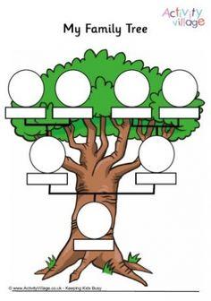 "Printable ""My Family"" worksheets #ESL #ELL @activityvillage // Fichas imprimibles de actividades sobre la familia #ILE"