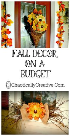 Fall Decor on A Budget. Fall Decor on A Budget. How we shop sales and gather things from nature to save money!