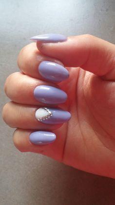 Light blue summer natural nails
