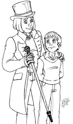 Click Willy Wonka with Johnny Depp Coloring page for