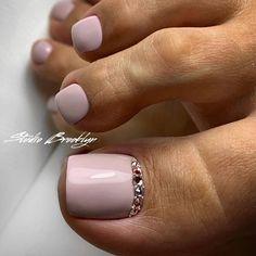 Nails gel, we adopt or not? - My Nails Glitter Toe Nails, Gel Toe Nails, Feet Nails, Toe Nail Art, Gel Toes, Pretty Toe Nails, Cute Toe Nails, Cute Acrylic Nails, Feet Nail Design