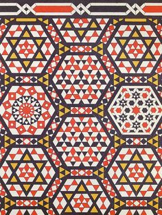 Wall mosaic century by Design Decoration Craft, - English paper piecing inspiration Geometric Patterns, Islamic Patterns, Motifs Textiles, Textile Prints, Textile Patterns, Surface Pattern Design, Pattern Art, Hexagon Pattern, Quilt Pattern
