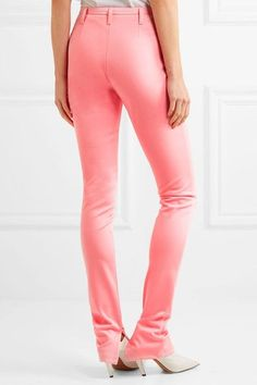 Balenciaga - Stretch-satin Skinny Pants - Pink - FR34