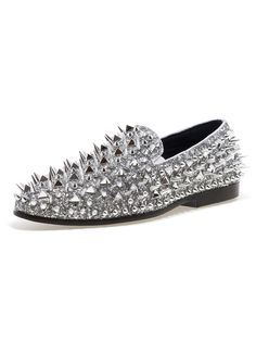 ee99ee9860a JUMP NEWYORK Lord Silver Spike Loafers Loafers