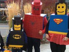 DIY LEGO Superhero Costumes by gearlive