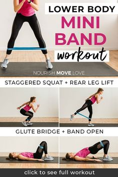 8 Best Resistance Band Exercises for Legs lower body workout legs workout resistance band workout glutes workout for women thigh workout for women Nourish Move Love 7 Workout, Best Leg Workout, Leg Day Workouts, Strength Training Workouts, At Home Workouts, Lower Body Workouts, Leg Strength Workout, Total Gym Workouts, Leg Workout Women