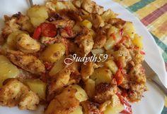 Körettel egyben sült fűszeres csirkemell Light Recipes, Poultry, Potato Salad, Cauliflower, Chicken Recipes, Bacon, Paleo, Food And Drink, Lunch