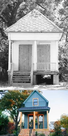 Before and After: The Shotgun House by Magnolia Homes