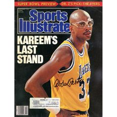 Kareem Abdul-Jabbar Los Angeles Lakers Fanatics Authentic Autographed 1-23-89 Sports Illustrated Magazine - $199.99