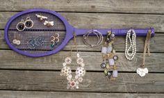 tennis racket jewelry holder - Google Search