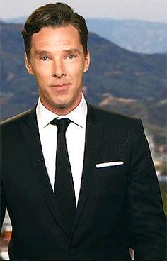 Benedict Cumberbatch kiss gif. Prepare to gasp. Those HANDS!!