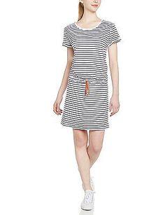 Small, 689 Evening Blue Stripe, Helly Hansen Naiad Women's Short Sleeve Dress NE