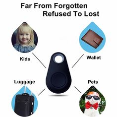 Pet Dog Anti-lost Tracker Smart Bluetooth Tracer Locator Tag Alarm Tracer Finder
