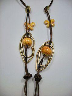 Zandstorm: Ketting met chinese knopen (Juwelen,halsketting)
