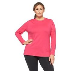 fa307788 C9 Champion® Plus Size Long Sleeve Power Workout Tee Black 3X Plus Size  Activewear,