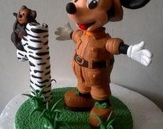 Topo de bolo - Mickey Safari