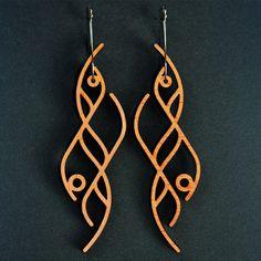 Lasercut Earrings - Ocean/long · freestylen · Online Store Powered ...