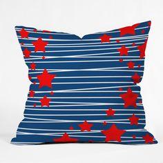 Caroline Okun Spangled Outdoor Throw Pillow | DENY Designs Home Accessories